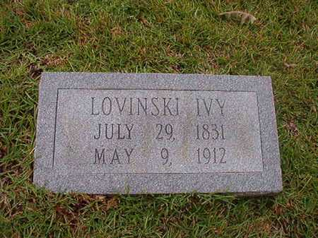 IVY, LOVINSKI - Calhoun County, Arkansas | LOVINSKI IVY - Arkansas Gravestone Photos