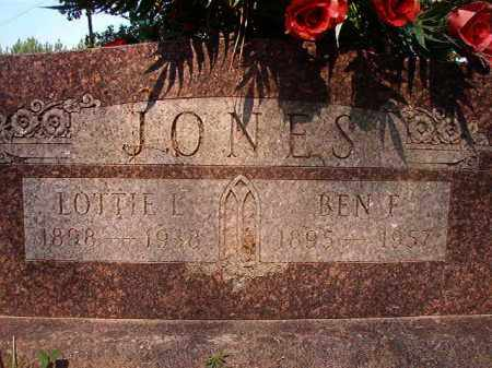 JONES, LOTTIE L - Calhoun County, Arkansas | LOTTIE L JONES - Arkansas Gravestone Photos