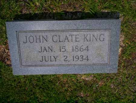 KING, JOHN CLATE - Calhoun County, Arkansas | JOHN CLATE KING - Arkansas Gravestone Photos