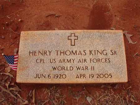 KING (VETERAN WWII), HENRY THOMAS - Calhoun County, Arkansas | HENRY THOMAS KING (VETERAN WWII) - Arkansas Gravestone Photos
