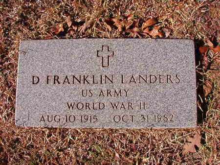 LANDERS (VETERAN WWII), D FRANKLIN - Calhoun County, Arkansas | D FRANKLIN LANDERS (VETERAN WWII) - Arkansas Gravestone Photos