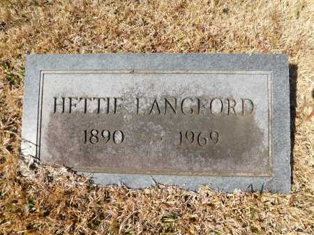 LANGFORD, HETTIE - Calhoun County, Arkansas | HETTIE LANGFORD - Arkansas Gravestone Photos