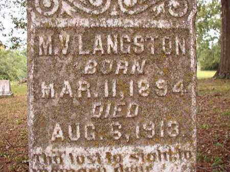 LANGSTON, M V - Calhoun County, Arkansas | M V LANGSTON - Arkansas Gravestone Photos
