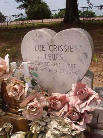 LEWIS, LUE CRISSIE - Calhoun County, Arkansas | LUE CRISSIE LEWIS - Arkansas Gravestone Photos