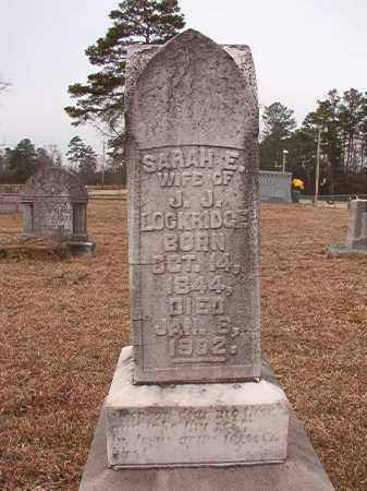 LOCKRIDGE, SARAH E - Calhoun County, Arkansas | SARAH E LOCKRIDGE - Arkansas Gravestone Photos
