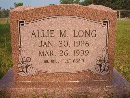 LONG, ALLIE M - Calhoun County, Arkansas | ALLIE M LONG - Arkansas Gravestone Photos