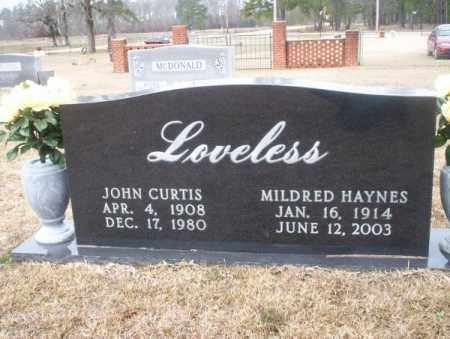 LOVELESS, JOHN CURTIS - Calhoun County, Arkansas | JOHN CURTIS LOVELESS - Arkansas Gravestone Photos