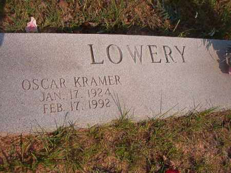 LOWERY, OSCAR KRAMER - Calhoun County, Arkansas | OSCAR KRAMER LOWERY - Arkansas Gravestone Photos