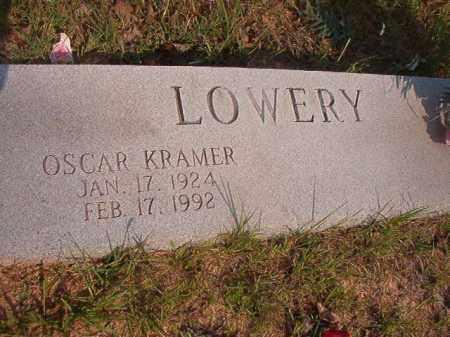 LOWERY, OSCAR KRAMER - Calhoun County, Arkansas   OSCAR KRAMER LOWERY - Arkansas Gravestone Photos