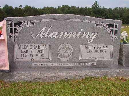 MANNING, BILLY CHARLES - Calhoun County, Arkansas | BILLY CHARLES MANNING - Arkansas Gravestone Photos