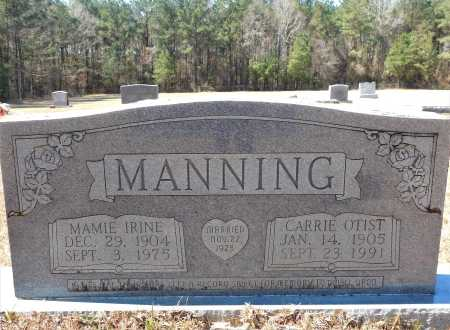 MANNING, CARRIE OTIST - Calhoun County, Arkansas | CARRIE OTIST MANNING - Arkansas Gravestone Photos