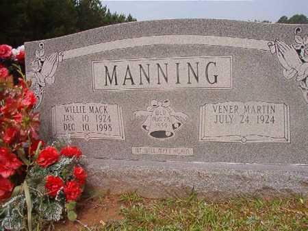 MANNING, WILLIE MACK - Calhoun County, Arkansas | WILLIE MACK MANNING - Arkansas Gravestone Photos
