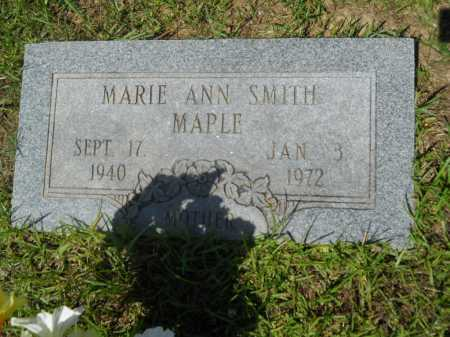 SMITH MAPLE, MARIE ANN - Calhoun County, Arkansas | MARIE ANN SMITH MAPLE - Arkansas Gravestone Photos