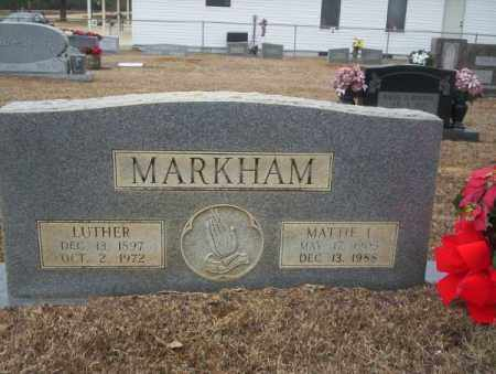 MARKHAM, MATTIE L - Calhoun County, Arkansas | MATTIE L MARKHAM - Arkansas Gravestone Photos