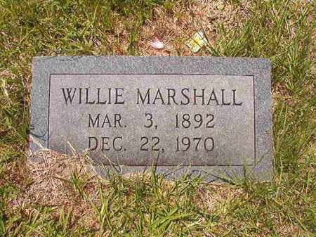 MARSHALL, WILLIE - Calhoun County, Arkansas | WILLIE MARSHALL - Arkansas Gravestone Photos