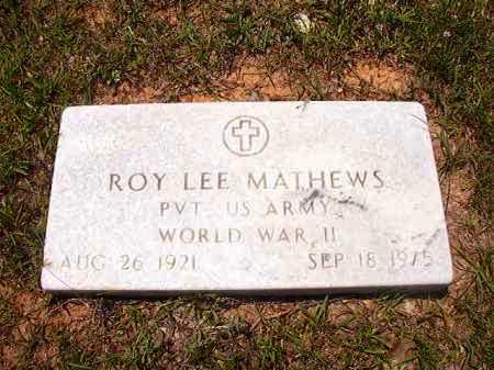 MATHEWS (VETERAN WWII), ROY LEE - Calhoun County, Arkansas | ROY LEE MATHEWS (VETERAN WWII) - Arkansas Gravestone Photos