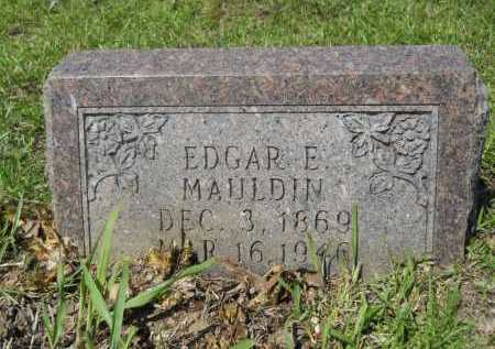 MAULDIN, EDGAR E - Calhoun County, Arkansas | EDGAR E MAULDIN - Arkansas Gravestone Photos