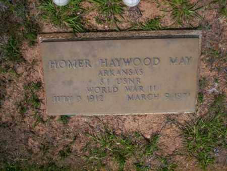 MAY  (VETERAN WWII), HOMER HAYWOOD - Calhoun County, Arkansas | HOMER HAYWOOD MAY  (VETERAN WWII) - Arkansas Gravestone Photos