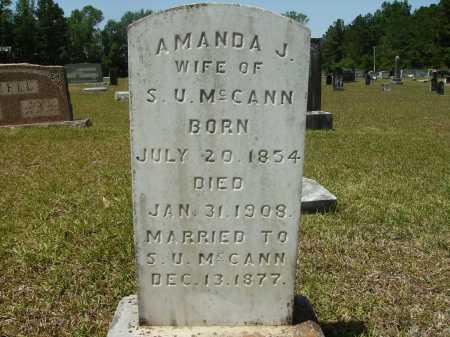 MCCANN, AMANDA J - Calhoun County, Arkansas | AMANDA J MCCANN - Arkansas Gravestone Photos