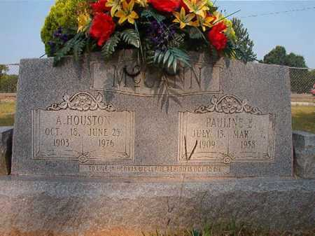 MCCANN, A HOUSTON - Calhoun County, Arkansas | A HOUSTON MCCANN - Arkansas Gravestone Photos
