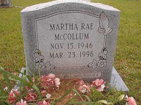 MCCOLLUM, MARTHA RAE - Calhoun County, Arkansas | MARTHA RAE MCCOLLUM - Arkansas Gravestone Photos