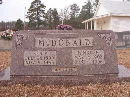 MCDONALD, MINNIE H - Calhoun County, Arkansas | MINNIE H MCDONALD - Arkansas Gravestone Photos