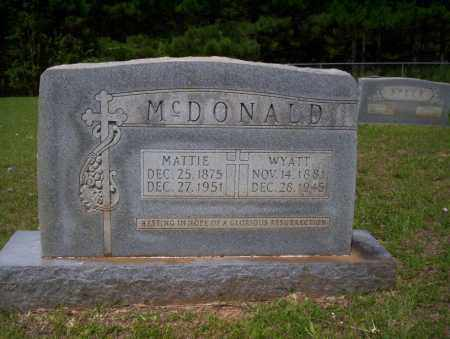 MCDONALD, WYATT - Calhoun County, Arkansas | WYATT MCDONALD - Arkansas Gravestone Photos