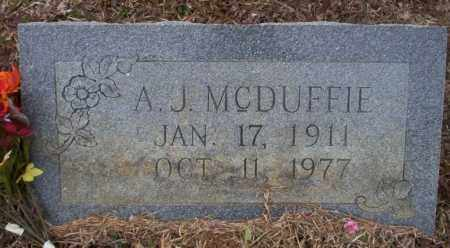 MCDUFFIE, A.J. - Calhoun County, Arkansas | A.J. MCDUFFIE - Arkansas Gravestone Photos