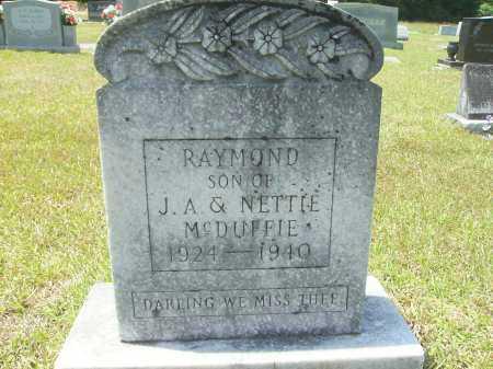 MCDUFFIE, RAYMOND - Calhoun County, Arkansas | RAYMOND MCDUFFIE - Arkansas Gravestone Photos
