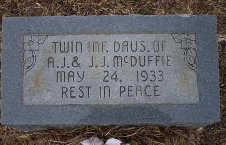 MCDUFFIE, INFANT TWIN DAUGHTER - Calhoun County, Arkansas | INFANT TWIN DAUGHTER MCDUFFIE - Arkansas Gravestone Photos