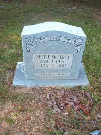 MCELROY, ZETTIE - Calhoun County, Arkansas | ZETTIE MCELROY - Arkansas Gravestone Photos