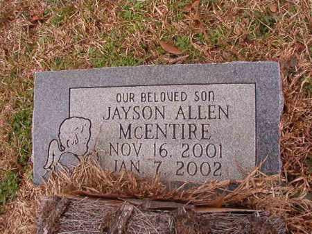 MCENTIRE, JAYSON ALLEN - Calhoun County, Arkansas | JAYSON ALLEN MCENTIRE - Arkansas Gravestone Photos