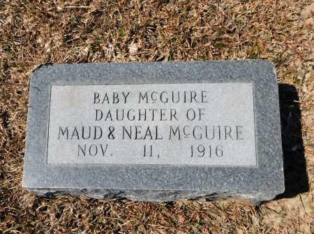 MCGUIRE, BABY - Calhoun County, Arkansas | BABY MCGUIRE - Arkansas Gravestone Photos