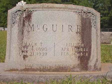 MCGUIRE, LILLIE B - Calhoun County, Arkansas | LILLIE B MCGUIRE - Arkansas Gravestone Photos