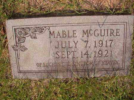 MCGUIRE, MABLE - Calhoun County, Arkansas | MABLE MCGUIRE - Arkansas Gravestone Photos