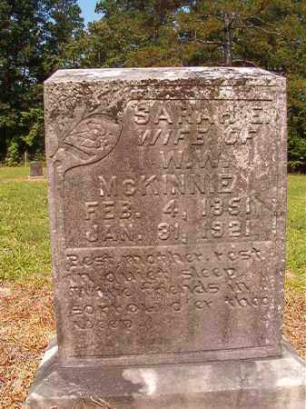 MCKINNIE, SARAH E - Calhoun County, Arkansas | SARAH E MCKINNIE - Arkansas Gravestone Photos