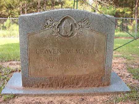 MCMANUS, CRAVEN - Calhoun County, Arkansas | CRAVEN MCMANUS - Arkansas Gravestone Photos