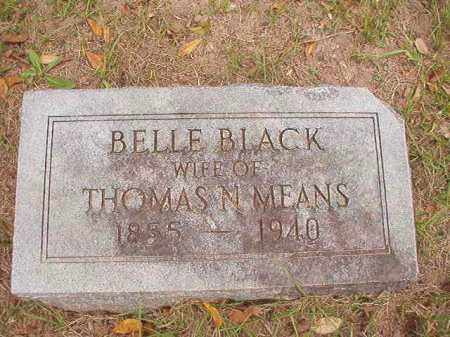 BLACK MEANS, BELLE - Calhoun County, Arkansas | BELLE BLACK MEANS - Arkansas Gravestone Photos