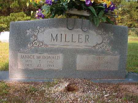 MCDONALD MILLER, JANICE - Calhoun County, Arkansas | JANICE MCDONALD MILLER - Arkansas Gravestone Photos