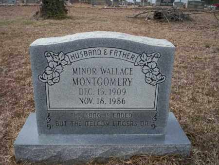 MONTGOMERY, MINOR WALLACE - Calhoun County, Arkansas | MINOR WALLACE MONTGOMERY - Arkansas Gravestone Photos