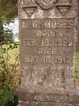 MOSES, A G - Calhoun County, Arkansas | A G MOSES - Arkansas Gravestone Photos