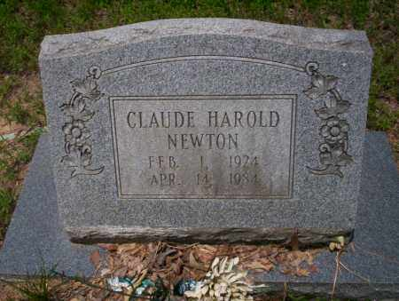 NEWTON, CLAUDE HAROLD - Calhoun County, Arkansas | CLAUDE HAROLD NEWTON - Arkansas Gravestone Photos