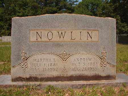 NOWLIN, MARTHA E - Calhoun County, Arkansas | MARTHA E NOWLIN - Arkansas Gravestone Photos