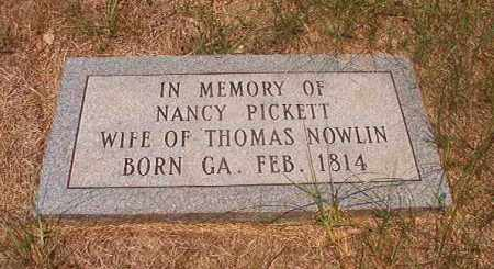 NOWLIN, NANCY - Calhoun County, Arkansas | NANCY NOWLIN - Arkansas Gravestone Photos
