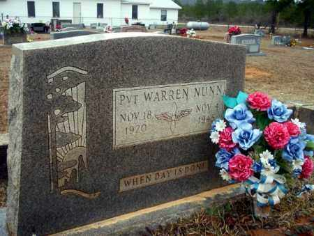NUNN  (VETERAN), WARREN - Calhoun County, Arkansas | WARREN NUNN  (VETERAN) - Arkansas Gravestone Photos