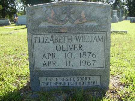 WILLIAMS OLIVER, ELIZABETH - Calhoun County, Arkansas | ELIZABETH WILLIAMS OLIVER - Arkansas Gravestone Photos