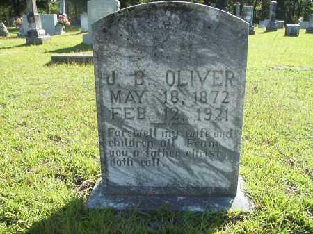 OLIVER, J B - Calhoun County, Arkansas | J B OLIVER - Arkansas Gravestone Photos