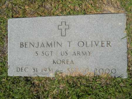 OLIVER (VETERAN KOR), BENJAMIN T - Calhoun County, Arkansas | BENJAMIN T OLIVER (VETERAN KOR) - Arkansas Gravestone Photos