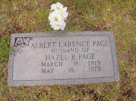 PAGE, ALBERT LARENCE - Calhoun County, Arkansas | ALBERT LARENCE PAGE - Arkansas Gravestone Photos