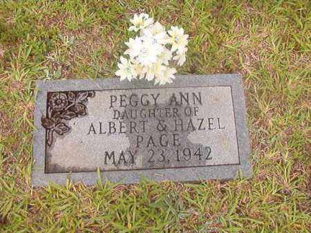 PAGE, PEGGY ANN - Calhoun County, Arkansas | PEGGY ANN PAGE - Arkansas Gravestone Photos